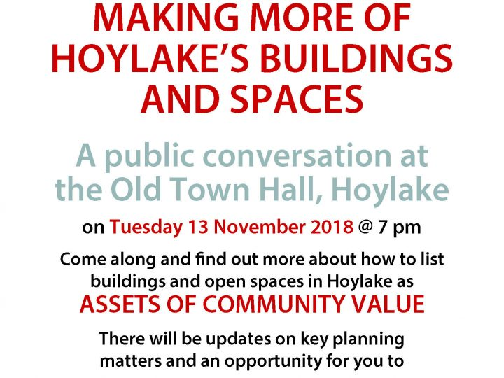 PUBLIC MEETING: Making more of Hoylake's buildings and spaces